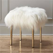 playful pile of authentic icelandic sheepskin cozies up as statement stool for the living room bedroom or study generously sized larger than others weve bedroom furniture cb2