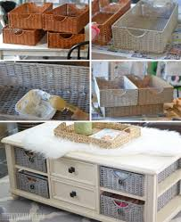 how to paint wicker baskets with chalk paint an easy coffee table makeover chalk paint coffee table