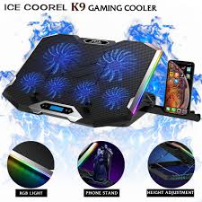 ICE COOREL <b>K9</b> Gaming <b>Cooler</b> RGB Breathing LED <b>Notebook</b> 6 ...