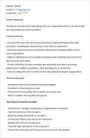 sample resume for hr executive hr consultant job description