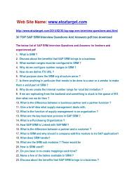 sap srm interview questions and answers