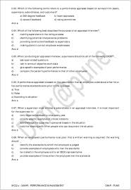 mcq s 306hr performance management pdf a training supervisors in the rating process b identifying potential interpersonal problems c