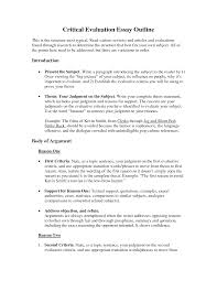 critical evaluation essay example critical evaluation essay critique essay outline critical lens essay critical evaluation essay