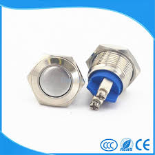 <b>Free ship 16mm Starter</b> Switch Boat Horn Momentary Steel Metal ...