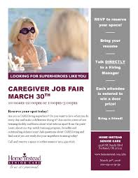 caregiver job fair hiring event c tec clackamas youth services 3 30 2016 home instead job fair flyer page 001
