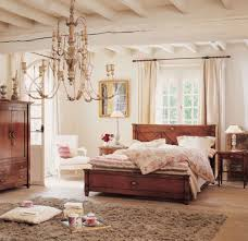 bedroom modern design ideas with wooden platform bed and rustic chandeliers for country style women bedroom blue vintage style bedroom