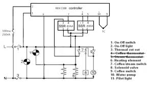 help rex c100 steam alarm wiring classic rex c100 pid brew steam png