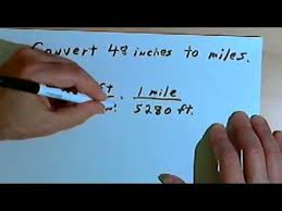 Converting between Inches, Feet, Yards and Miles 128-2.4 - YouTube
