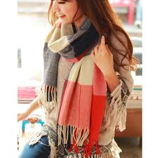 190*50cm Autumn Winter Female <b>Wool Plaid Scarf Women</b> ...
