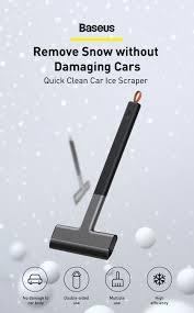 <b>Baseus</b> Car <b>Ice Scraper</b> Windshield Ice Quick Clean Glass Brush ...