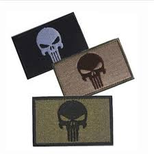 80*50mm <b>Punisher Skull Embroidered Patches</b> Badge Military ...