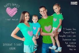 <b>Happy Family</b> T-Shirt Mock-Up | Дизайн