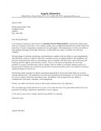 cover letter template for sample cover letters for customer customer service cover letters examples template