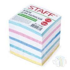 <b>Бумага</b> для записей 90*90*90 <b>Staff</b> непроклеенный, <b>цветной</b> ...