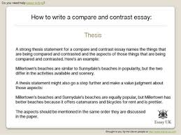how do you write a compare and contrast essay wwwgxartorg how to write a compare and contrast essay essay writing