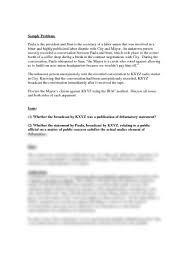 sample irac defamation studyblue
