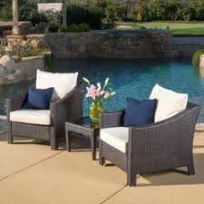 patio couch set antibes outdoor  piece wicker bistro set with cushions by christopher knight home