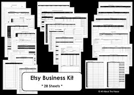 etsy business listing image black and whire1 bussiness planner