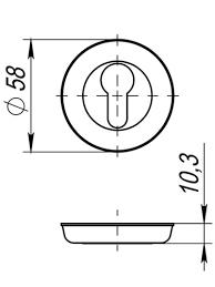 <b>Накладка под цилиндр</b> ET SM MAB-6 (темная бронза): цена ...