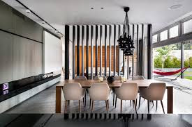 irvine house contemporary great room idea in perth with a ribbon fireplace angled metal legs 4quotw