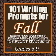 Essay  Creative  and Journal Writing Prompts for Fall