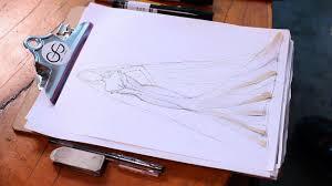 How to <b>Draw</b> a Wedding Dress | Fashion <b>Sketching</b> - YouTube