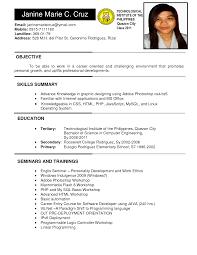 job resume format exle  seangarrette cojob