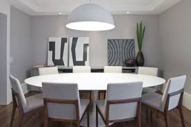 Modern White Dining Room Set Brilliant Excellent Ferrara Modern Round Wood Dining Table For