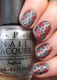 days of day blobbicure opi fifty shades of grey what do you think pretty lame it s okay you can tell me it definitely looked better the added stamping thanks so much for reading