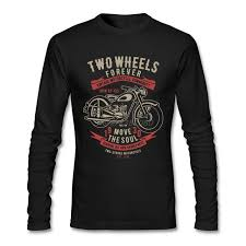 Online Shop Two Wheels Move The Soul Vintage Motorcycle T Shirt ...