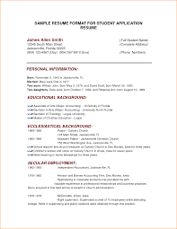 format of a resume for job application basic job appication 10 format of a resume for job application