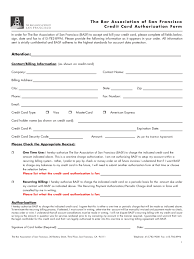 credit card authorization form templates in pdf word credit card authorization form san francisco