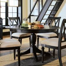 Round Dining Room Furniture Black Extendable Round Dining Room Table And Chairs For 4 Round