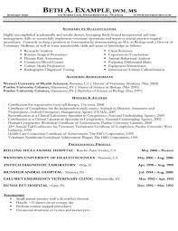 resume samples   types of resume formats  examples and templatesveterinary cv