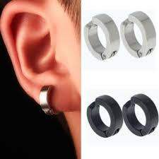 Details about <b>Hot 1 Pair</b> Men Stainless Steel Non-<b>Piercing</b> Clip On ...