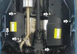 <b>Защита топливного бака</b> (<b>сталь</b>) Motodor Haval F7 (2019-2020 ...