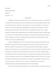 essay  modern world final