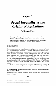 social inequality at the origins of agriculture springer inside