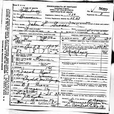 death certificates g kentucky death certificate 9037 john l gross 1854 1937 jacob gross elizabeth jane nofsinger b s gross bremen muhlenberg kentucky tennessee