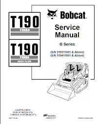 bobcat t190 turbo t190 turbo high flow compact track loader repair manual bobcat t190 turbo t190 turbo high flow compact track loader service manual pdf