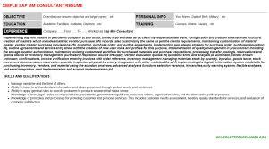 sap mm consultant resume sample sample sap mm consultant cover letter