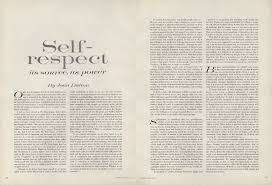 self respect essay on selfrespect joan didionsessay from the pages on self respect joan didion s essay from the pages of vogue on self respect joan