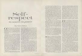 essay on self respect on selfrespect joan didionsessay from the on self respect joan didion s essay from the pages of vogue on self respect joan