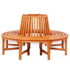 mewmewcat <b>Circular Tree Bench</b> Wooden Gar- Buy Online in ...