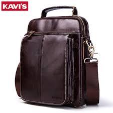 KAVIS Men <b>bags 100</b>% <b>Genuine Leather</b> Shoulder <b>Bag</b> Men Classic ...