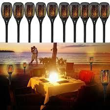 2Pack <b>96 LED Solar</b> Power Path Torch Light Dancing <b>Flame</b> ...