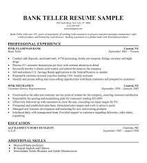 bank cashier cv sample excellent face to face communication skills    bank teller resume sample resume companion