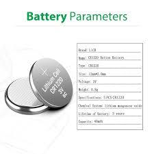 LiCB CR1220 Battery 3V Lithium <b>5PCS</b> (<b>CR 1220</b> / <b>Batteries</b> ...