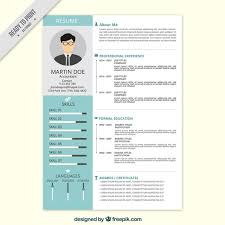 resume vectors  photos and psd files   free downloadprofessional resume in flat style