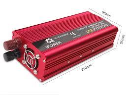 Dual USB 2000W Watt DC <b>12V</b> to AC <b>220V Portable Car</b> Power ...